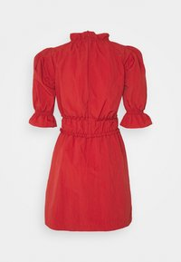 Missguided - RUCHED WAIST PUFF SLEEVE DRESS - Day dress - wine - 1