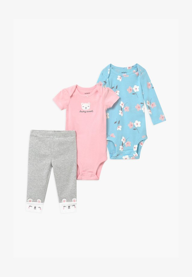 FLORAL SET - Body - blue/light pink