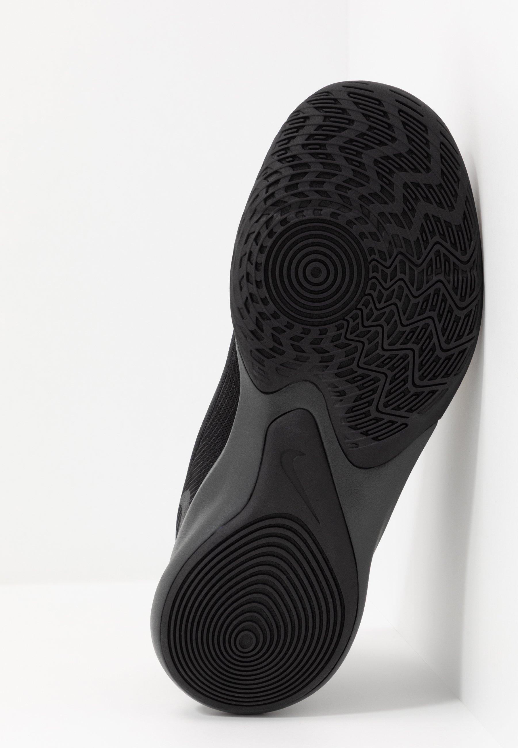 Nike Performance PRECISION 4 - Basketballschuh - black/metallic gold/dark smoke grey/schwarz - Herrenschuhe AKDzB