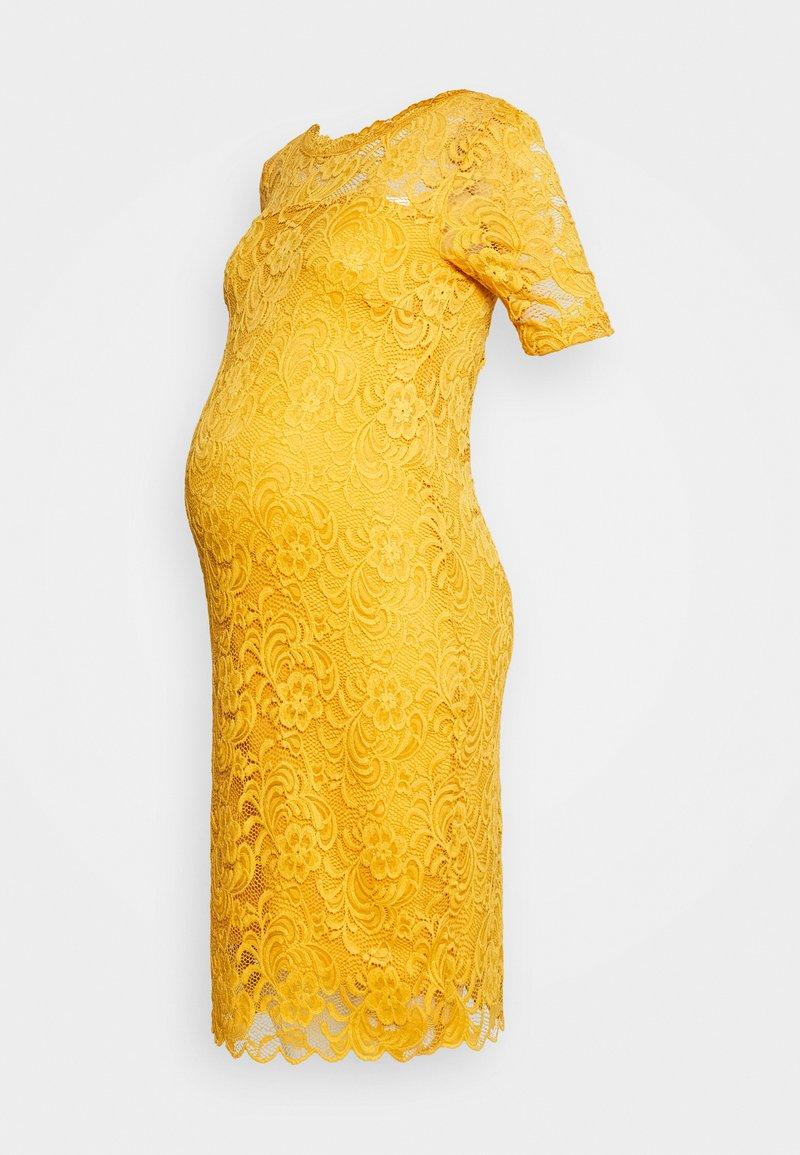 MAMALICIOUS - MLMIVANA BACK DRESS - Vestido de cóctel - chinese yellow