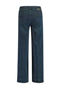 Taifun - HOSE  LANG WEITE  WIDE LEG TS - Flared Jeans - dark blue - 1