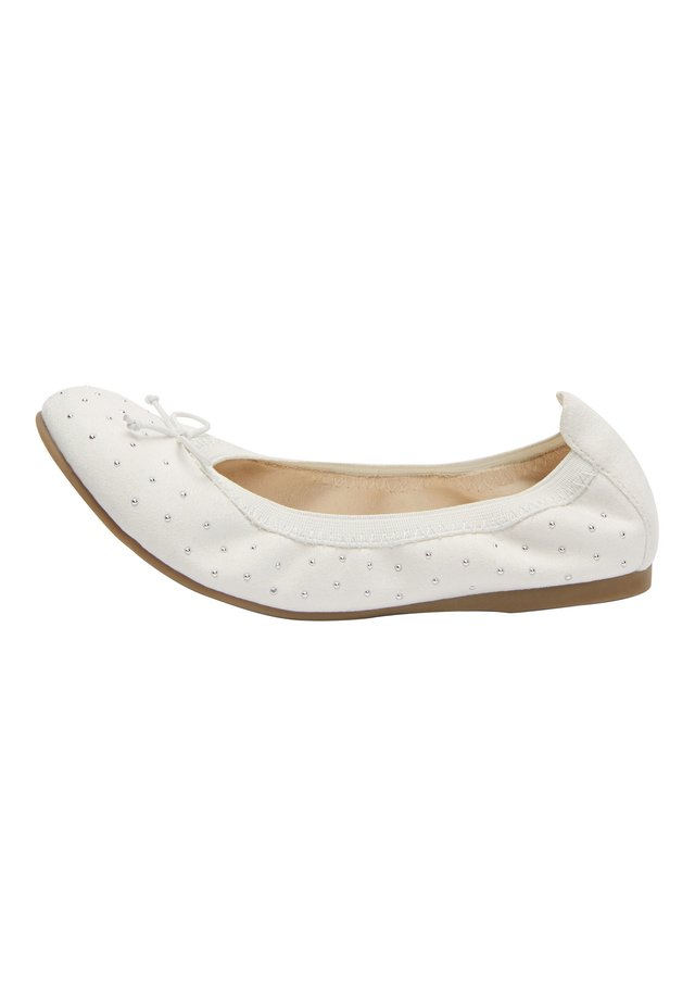 PINK STUDDED FLEXI BALLET SHOES (OLDER) - Ballet pumps - white