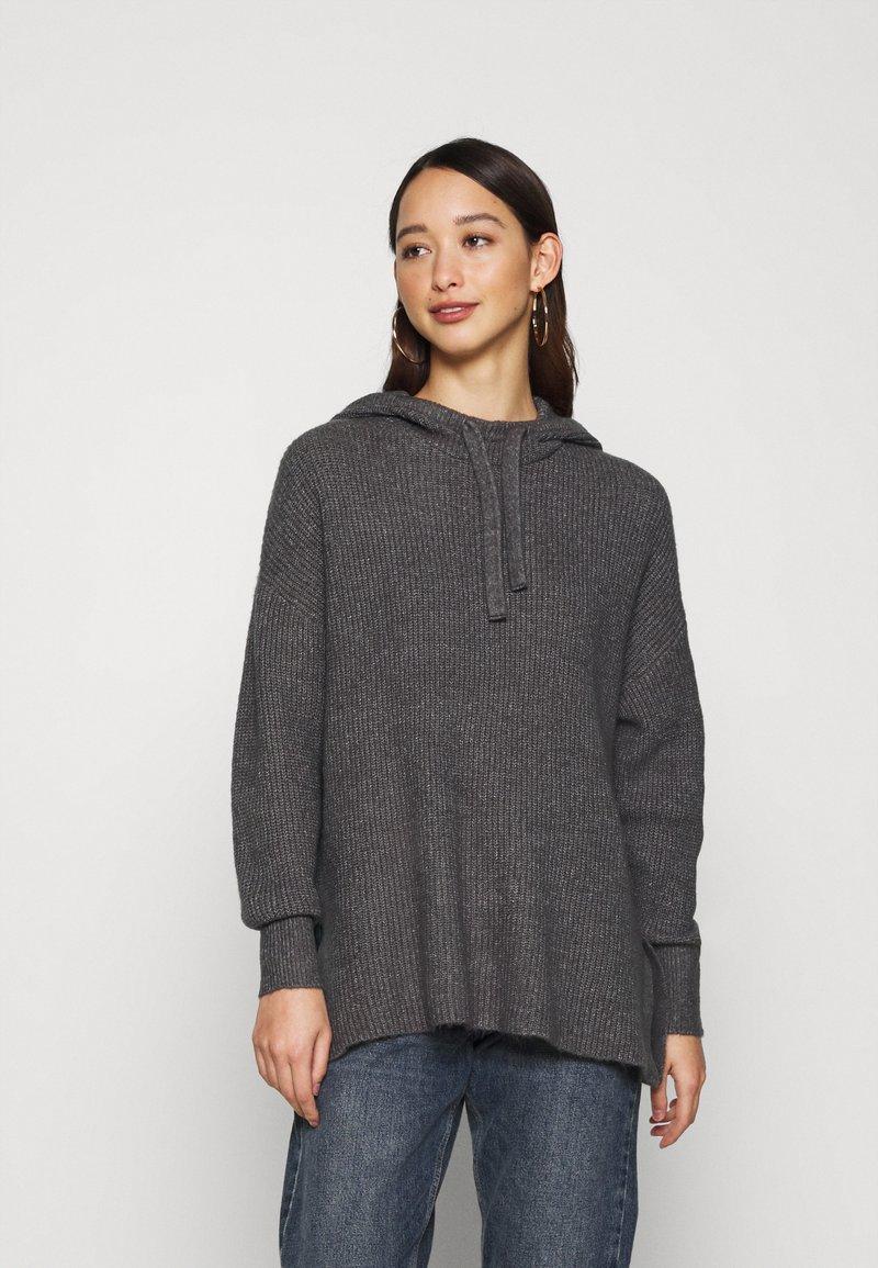 ONLY - ONLKAY HOOD - Hoodie - medium grey melange