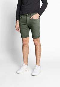 G-Star - 3301 SLIM SHORT - Shorts di jeans - dark lever - 0