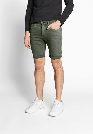 3301 SLIM SHORT - Jeansshort - dark lever