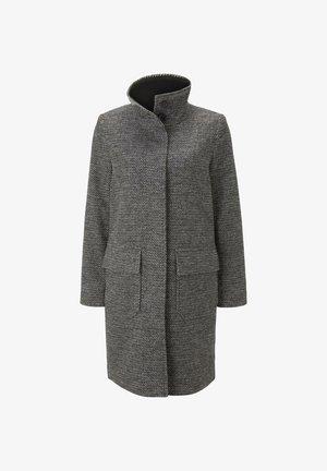 Short coat - black white structure twill