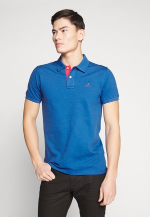 CONTRAST COLLAR RUGGER - Poloshirt - nautical blue