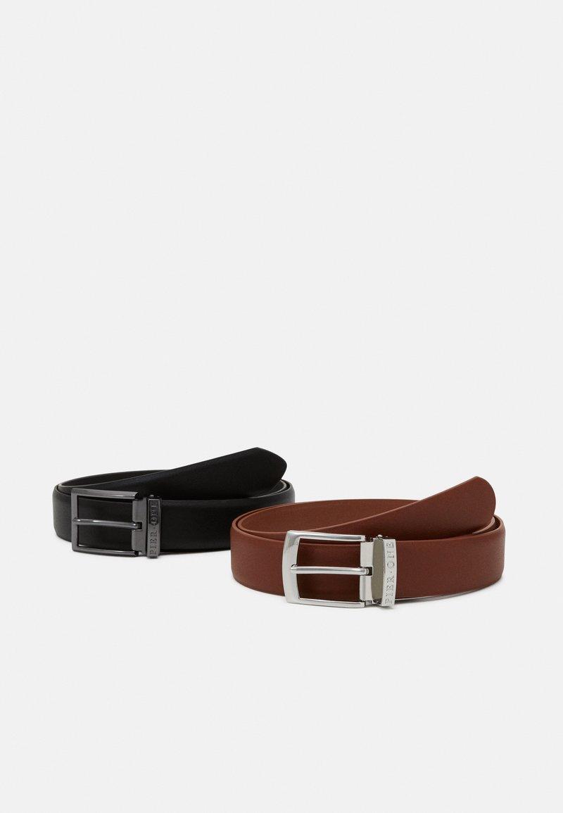 Pier One - 2 PACK - Belt - black/brown