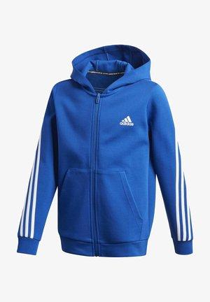 3-STREIFEN DOUBLEKNIT KAPUZENJACKE - Zip-up hoodie - blue
