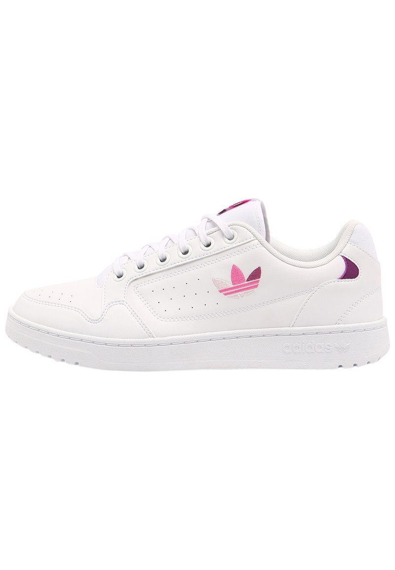 adidas Originals - NY 90 UNISEX - Sneakers laag - white/rich mauve/screaming pink