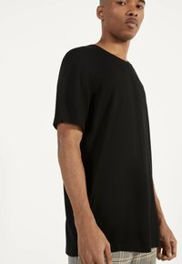 Bershka - STRICKSHIRT 02350326 - Basic T-shirt - black - 3
