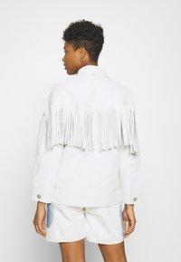 Topshop - ROY FRINGE JACKET - Leather jacket - white - 2