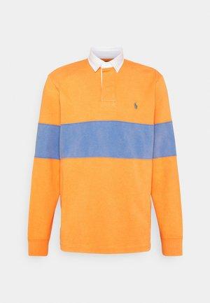 LONG SLEEVE RUGBY - Polo shirt - kona orange/deep blue