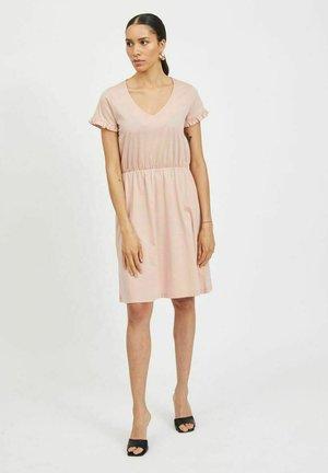 VIDREAMERS V-NECK DRESS - Day dress - misty rose