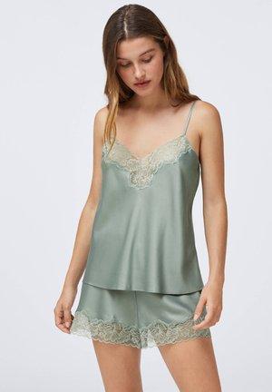 SATINTOP MIT SPITZE 30212204 - Pyjama top - khaki