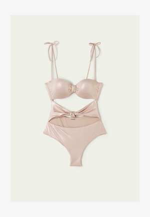 MIT KNOTENDETAIL SHINY NUDE - Swimsuit -  chic sand