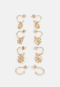 PCLUCY EARRINGS 4 PACK - Earrings - gold-coloured