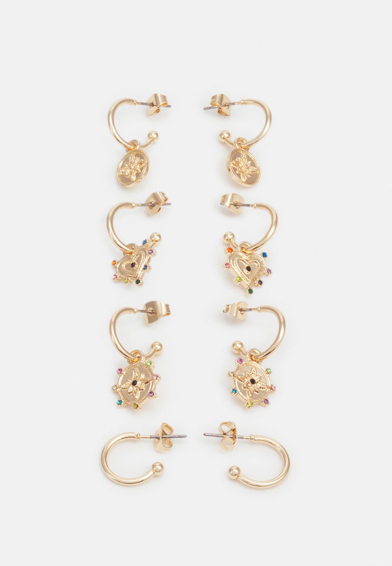 Pieces - PCLUCY EARRINGS 4 PACK - Earrings - gold-coloured