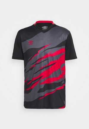 GRAPHIC TRAINING - Print T-shirt - black/lollipop