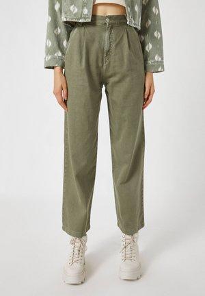 Široké džíny - green