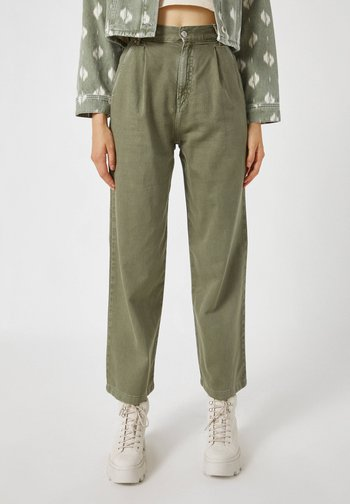 Flared Jeans - green