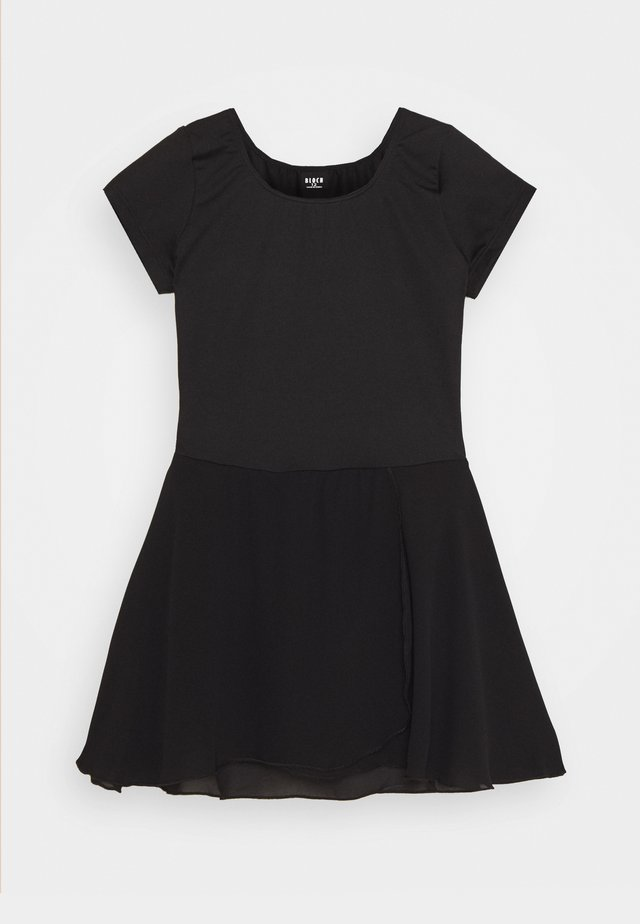 BALLET SHORT SLEEVE DRESS PRISHA - Jerseykjoler - black