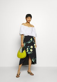 Who What Wear - SARONG SKIRT - A-line skirt - black - 1