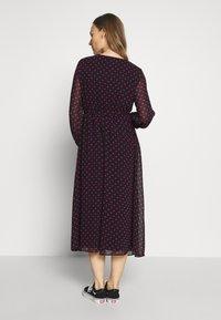 Dorothy Perkins Maternity - SPOT WRAP DRESS - Day dress - black - 2