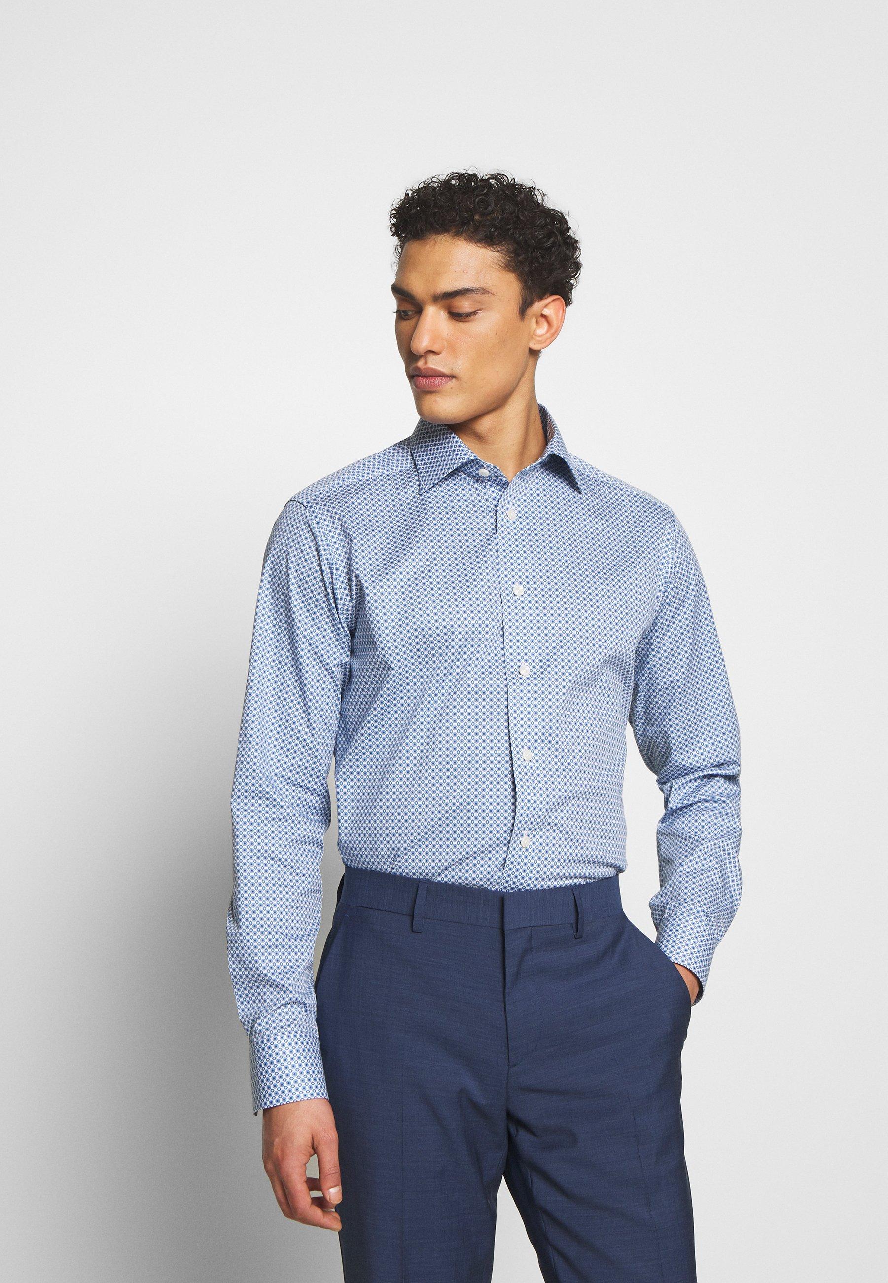 Eton SLIM FIT - Finskjorte - blue/white