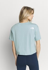 The North Face - CROPPED SIMPLE DOME TEE - T-shirt basic - tourmaline blue - 2