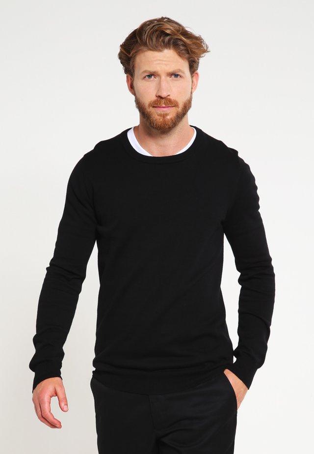 FREDERIK  - Stickad tröja - jet black