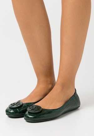 EMBOSSED MINNIE TRAVEL LOGO - Ballet pumps - green