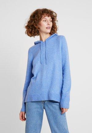 Hoodie - sea blue melange