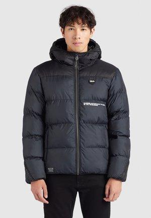 TOUR - Winter jacket - schwarz print