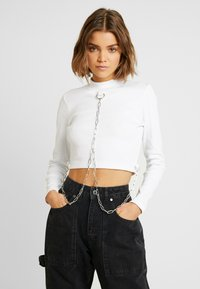 The Ragged Priest - ERASE CROP - Long sleeved top - white - 0