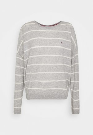 Strikpullover /Striktrøjer - light grey/ecru