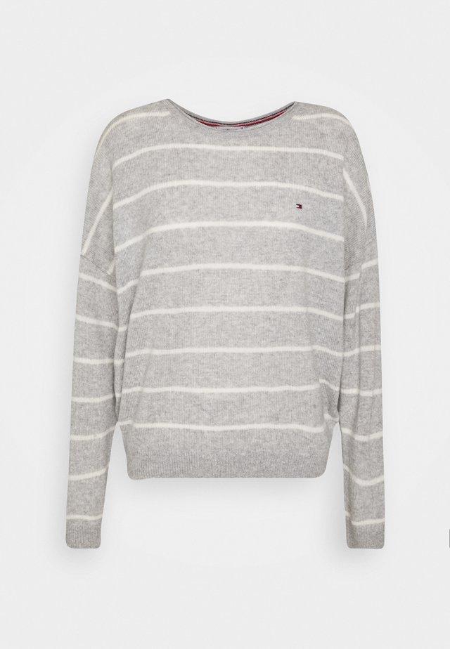 Sweter - light grey/ecru