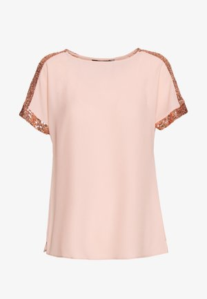 SEQUIN TRIM - Camicetta - blush