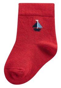 Next - 3 PACK BOAT SOCKS - Socken - red - 3