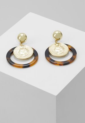 EUFEMIA - Earrings - gold-coloured/brown