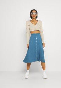 Vila - VIVISH - A-line skirt - captains blue - 1