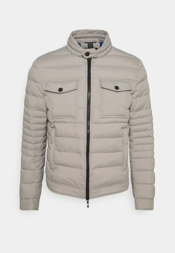 SLIM FIT IN TECHNO FABRIC WAXY TOUCH - Light jacket - light grey