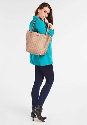 ALBY 4G-LOGO - Handbag - beige