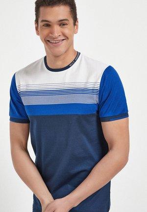 BLOCKING  - Print T-shirt - blue