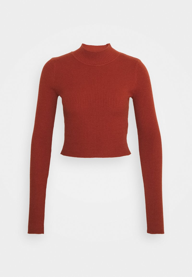 Glamorous Tall - CROPPED JUMPER WITH LONG SLEEVES AND HIGH ROUND NECKLINE - Jumper - rust