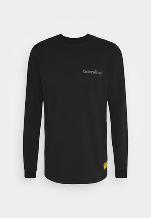 BASIC EMBROIDERY CATERPILLAR  - Long sleeved top - black