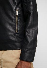 Only & Sons - ONSROVER BIKER - Faux leather jacket - black - 4