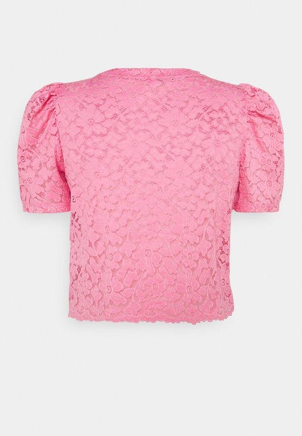 ONLY ONLNEW ALBA CROPPED PUFF - Bluzka - sachet pink/rÓżowy JEME