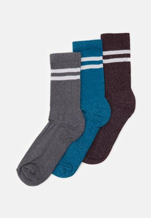 TWIST TIPPED CREW 3 PACK - Socken - grey/blue/bordeaux