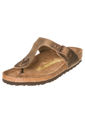 GIZEH - T-bar sandals - tabakbraun